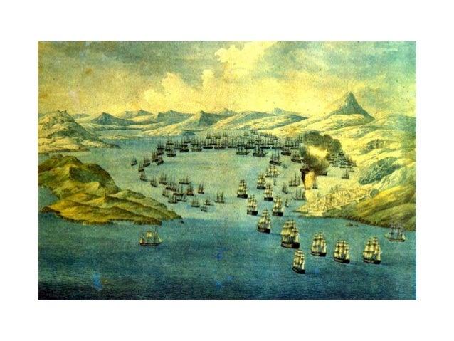 ▲G. PH. REINAGLE (painter) & C. HULLMANDEL (engraver)  The naval battle in Navarino