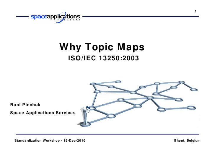 Why Topic Maps   ISO/IEC 13250:2003 Rani Pinchuk Space Applications Services  Standardization Workshop - 15-Dec-2010 Ghent...