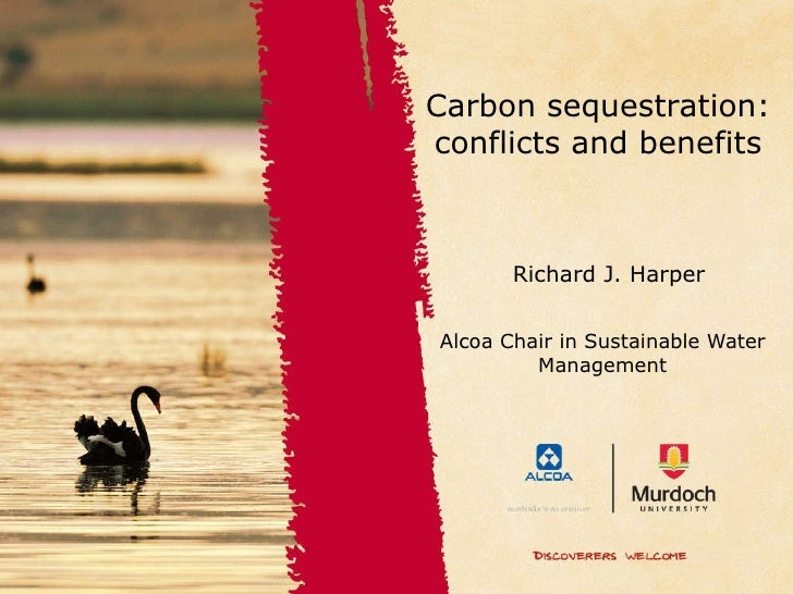 Alcoa Chair in Sustainable Water Management Richard J. Harper Carbon sequestration: conflicts and benefits