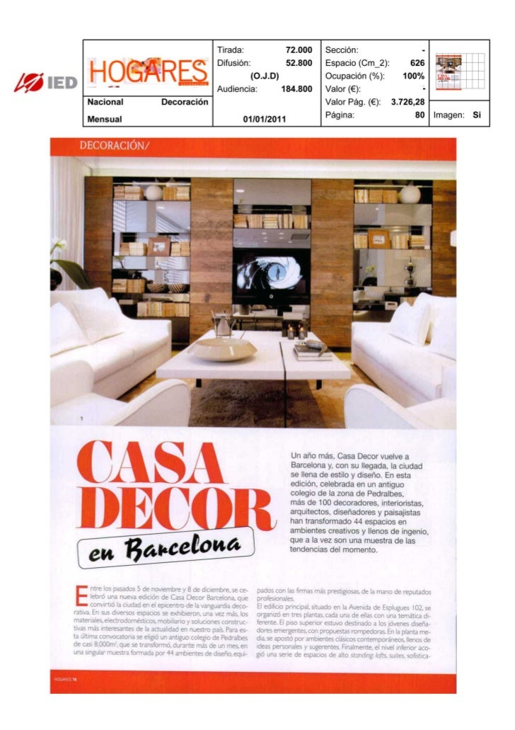 Clipping Hogares 01/01/2011 @ IED Barcelona