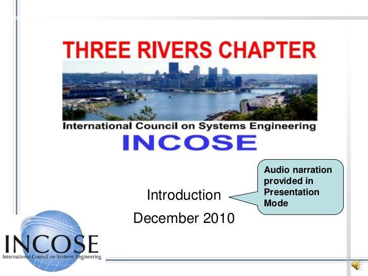 Audio narration provided in Presentation Mode<br />Introduction<br />December 2010<br />