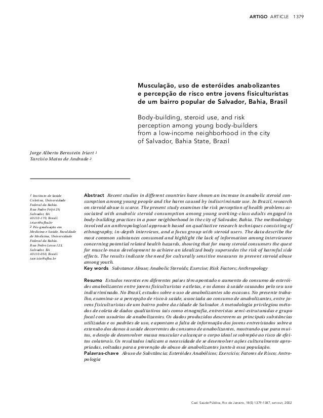 1379Cad. Saúde Pública, Rio de Janeiro, 18(5):1379-1387, set-out, 2002ARTIGO ARTICLEMusculação, uso de esteróides anaboliz...