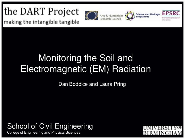 Monitoring the Soil and Electromagnetic (EM) Radiation<br />Dan Boddice and Laura Pring<br />