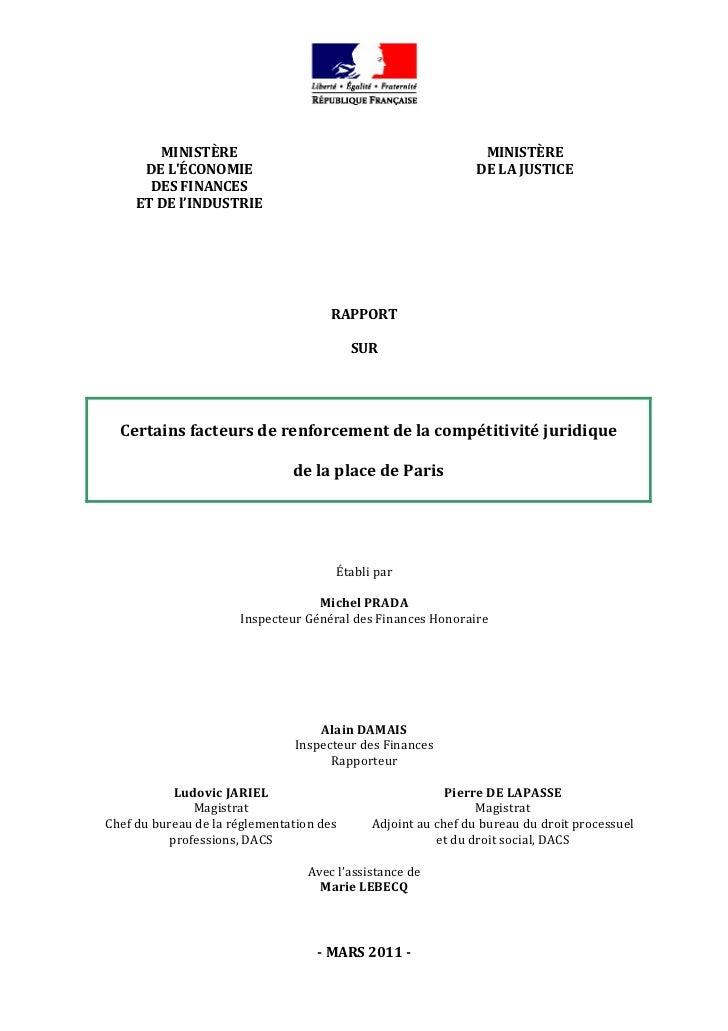 MINISTÈRE                                               MINISTÈRE          DELÉCONOMIE                               ...