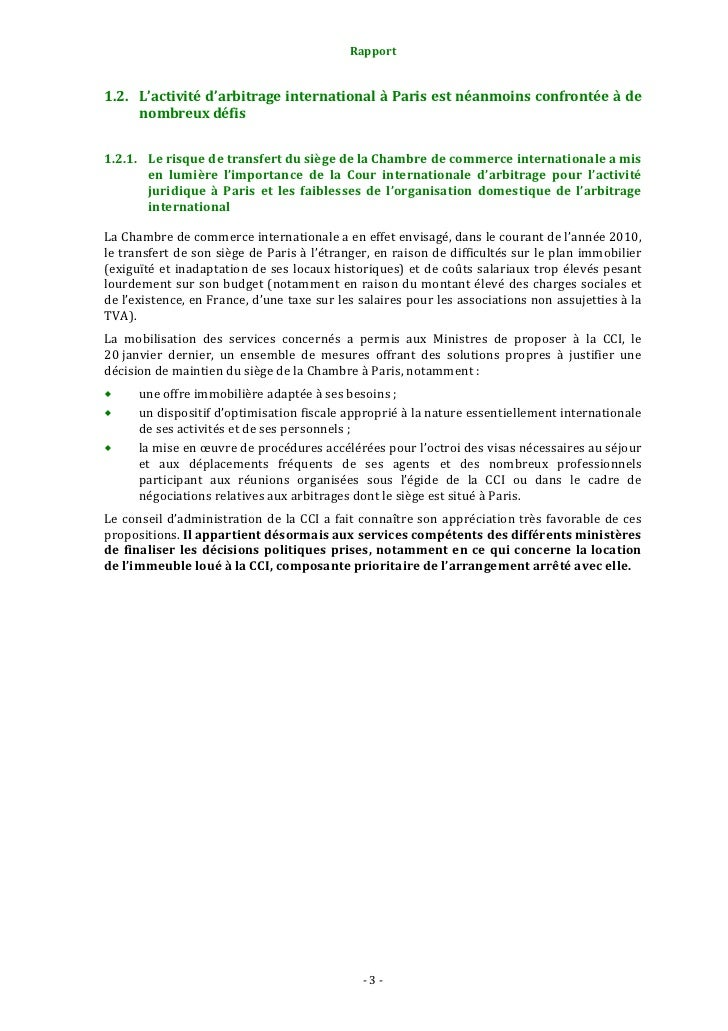110119rapport prada place for Chambre de commerce internationale arbitrage