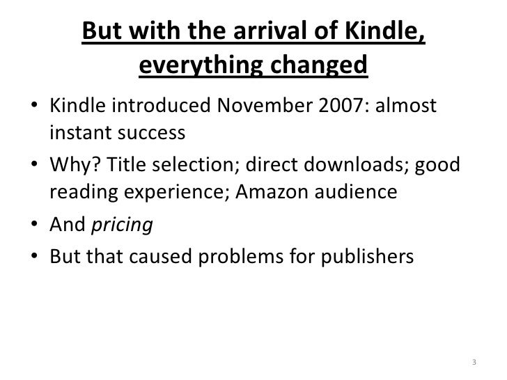 Digital Change in Publishing: a lesson learned in the US Slide 3