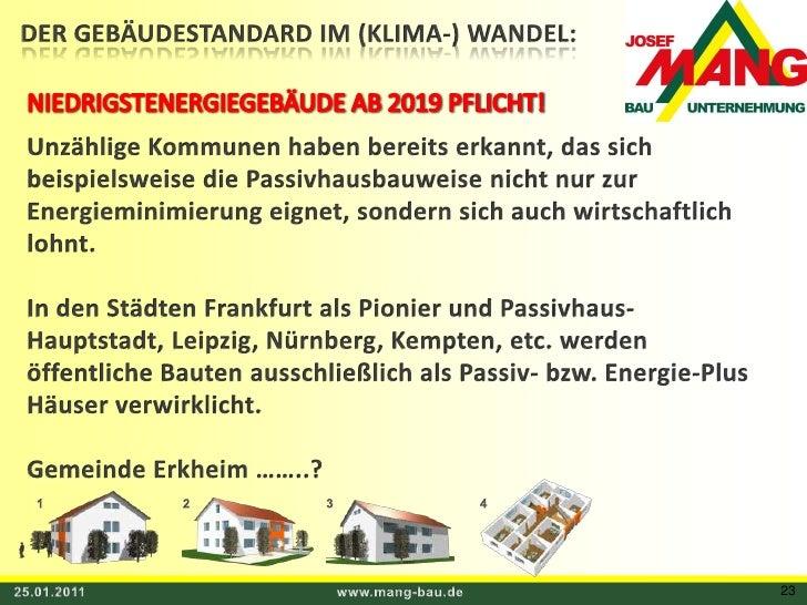 DER GEBÄUDESTANDARD IM (KLIMA-) WANDEL:<br />NIEDRIGSTENERGIEGEBÄUDE AB 2019 PFLICHT!<br />Unzählige Kommunen haben bereit...