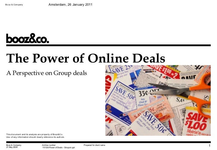 Groupon - The power of Online Deals