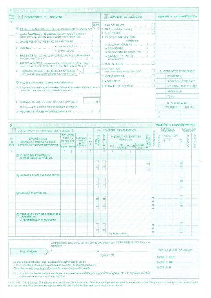 formulaire h2 taxe fonciere
