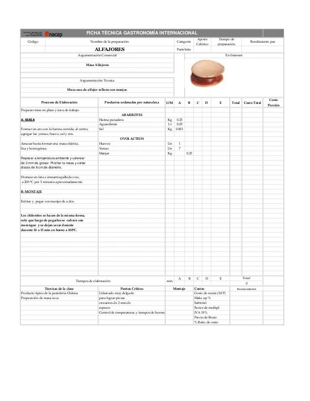 110147107 fichas tecnicas taller de pasteleria ii 2 for Tecnicas de alta cocina