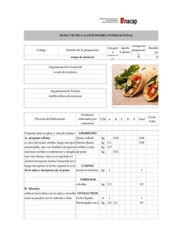 110149843 fichas tecnicas taller de alimentacion colectiva for Tecnicas gastronomicas pdf