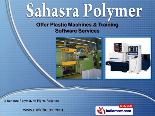 Offer Plastic Machines & Training        Software Services