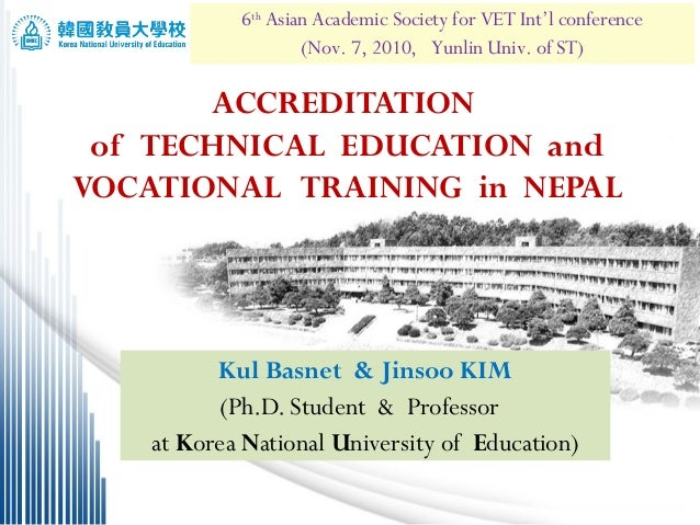 6th Asian Academic Society for VET Int'l conference 1/23                    (Nov. 7, 2010, Yunlin Univ. of ST)       ACCRE...