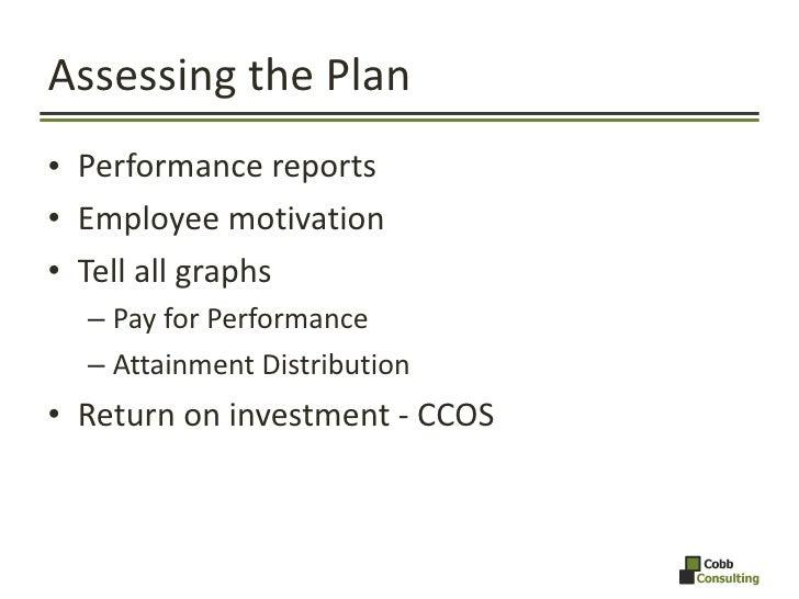 Assessing the Plan <ul><li>Performance reports </li></ul><ul><li>Employee motivation </li></ul><ul><li>Tell all graphs </l...