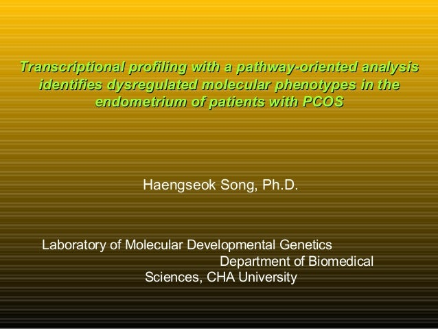 Transcriptional profiling with a pathway-oriented analysisTranscriptional profiling with a pathway-oriented analysis ident...
