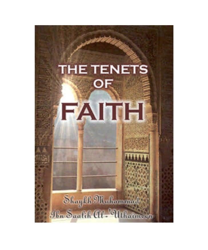 TABLE of CONTENTS            Tenets of Faith:                             5            Forward by Shaykh Abdul-Azeez bin B...