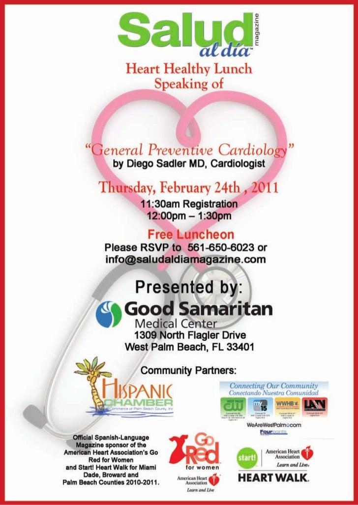 Free Luncheon at Good Samaritan Medical Center