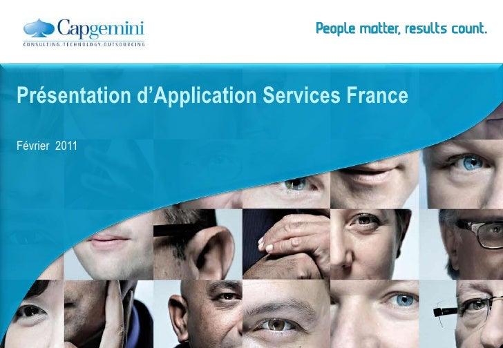 Février  2011<br />Présentation d'Application Services France<br />