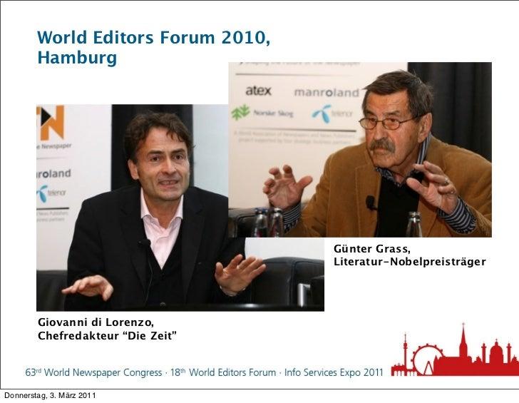 World Editors Forum 2010,        Hamburg                                    Günter Grass,                                 ...