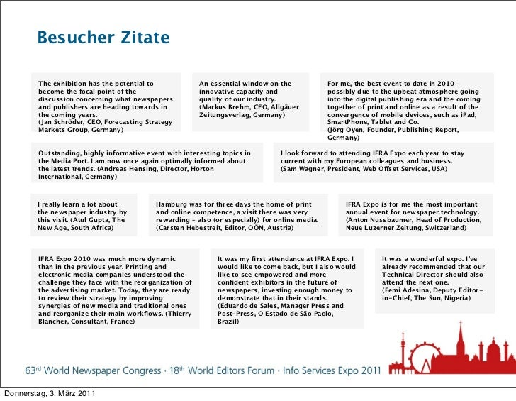 Besucher Zitate        The exhibition has the potential to              An essential window on the             For me, the...