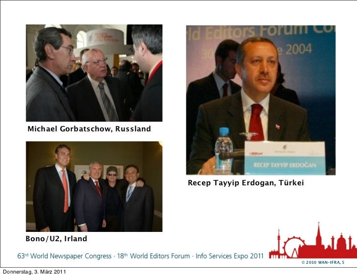Michael Gorbatschow, Russland                                         Recep Tayyip Erdogan, Türkei        Bono/U2, Irland ...