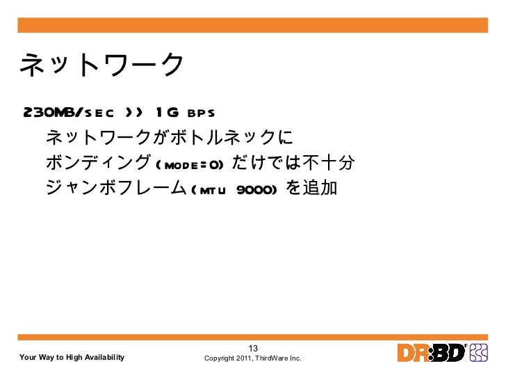 設計 リアルタイム・レプリケーション サーバ 1 KVM DRBD QEMU ゲスト OS 2 LVM2 iSCSI ターゲット iSCSI イニシエータ サーバ 1 KVM DRBD ( プライマリ ) QEMU ゲスト OS 2 LVM2 ...
