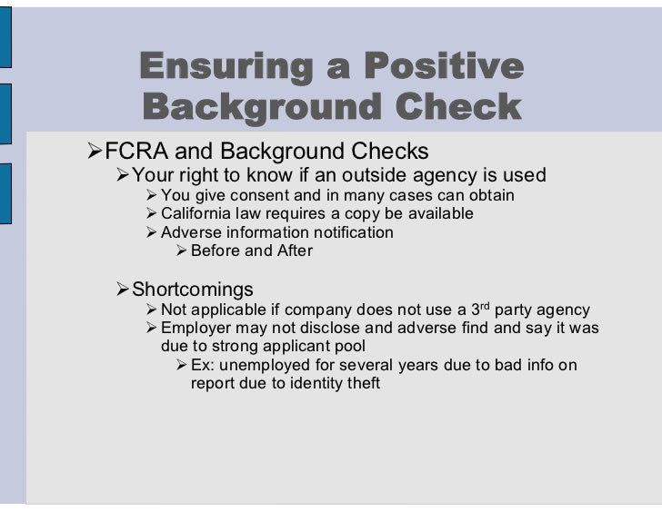 110304 background check preparation10 ensuring a positive background check fcra