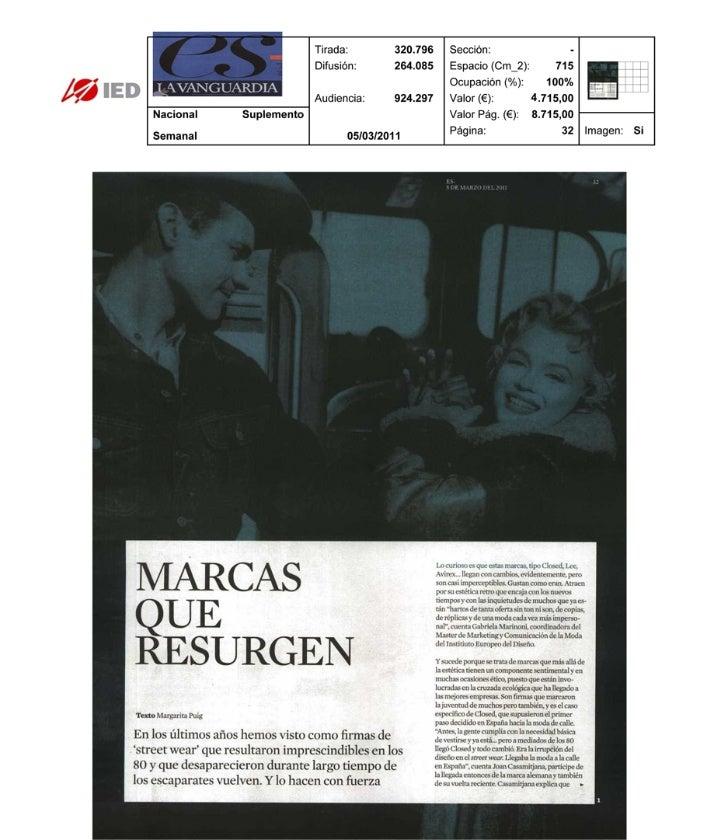 Clipping ES La Vanguardia 05/03/2011 @ IED Barcelona