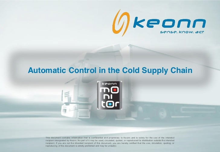 Automatic Control in the Cold Supply Chain                                                            keonn    This docume...