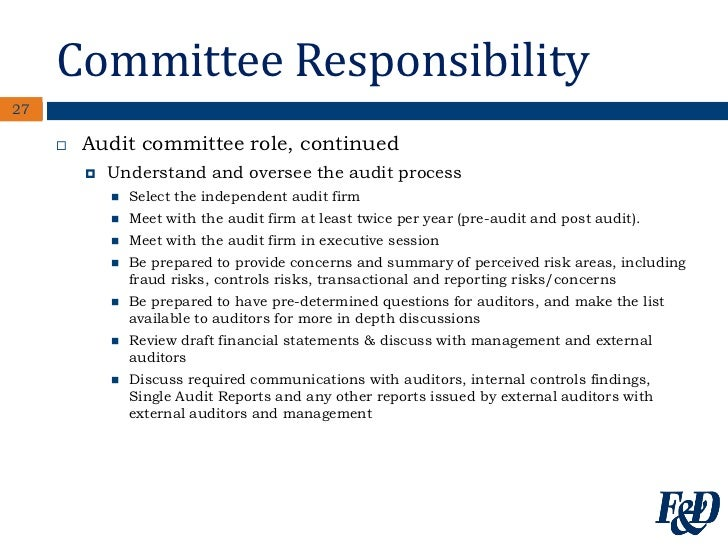 role of an audit committee especially for Since 2010, deloitte's cfo program has delivered more than 700 cfo transition lab sessions—one-day workshops that help finance chiefs onboard into their new role in preparation for these sessions, we have interviewed hundreds of audit committee chairs and members across 20 countries this.