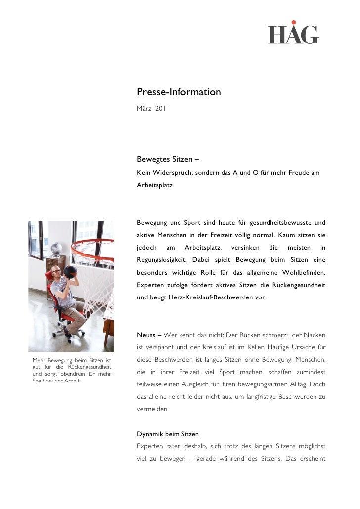 Presse-Information                                März 2011                              ...