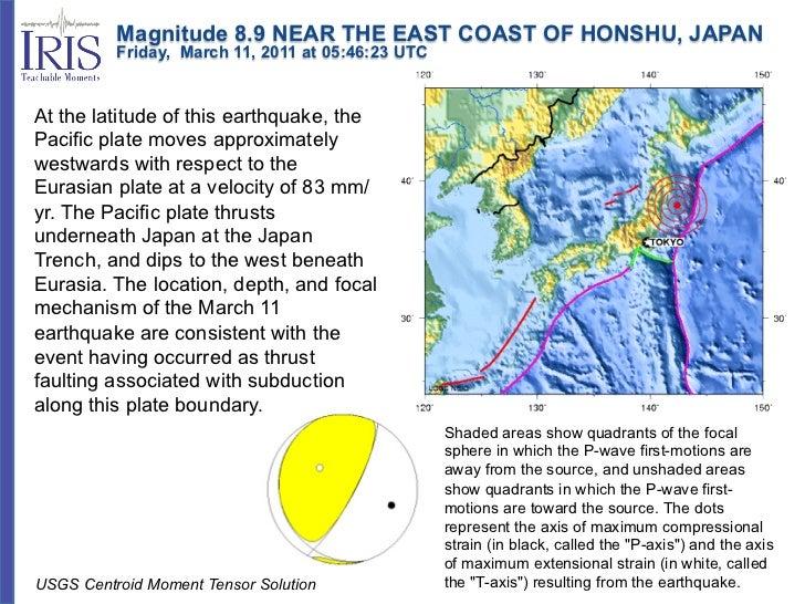 Magnitude 8.9 NEAR THE EAST COAST OF HONSHU, JAPAN          Friday, March 11, 2011 at 05:46:23 UTCAt the latitu...