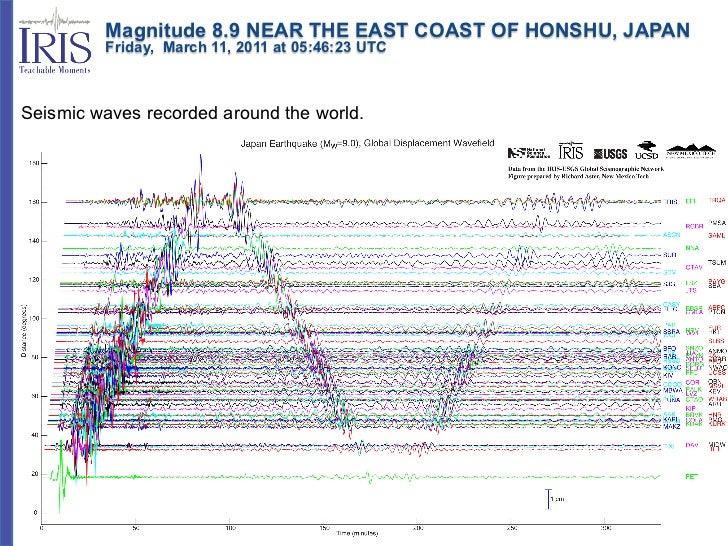 Magnitude 8.9 NEAR THE EAST COAST OF HONSHU, JAPAN         Friday, March 11, 2011 at 05:46:23 UTCSeismic waves r...