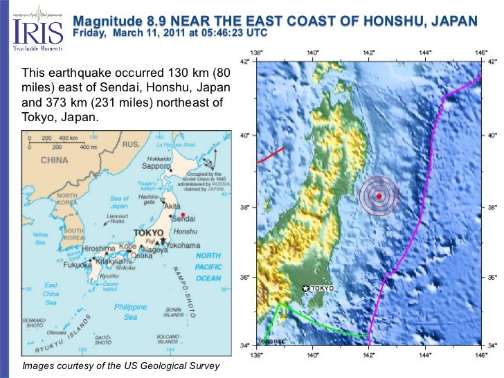 Magnitude 8.9 NEAR THE EAST COAST OF HONSHU, JAPAN           Friday, March 11, 2011 at 05:46:23 UTCThis earthq...