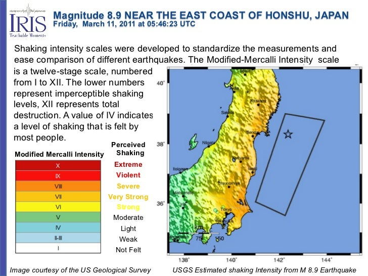 Magnitude 8.9 NEAR THE EAST COAST OF HONSHU, JAPAN            Friday, March 11, 2011 at 05:46:23 UTC Shaking ...