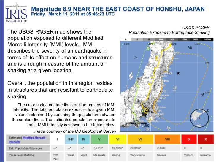 Magnitude 8.9 NEAR THE EAST COAST OF HONSHU, JAPAN           Friday, March 11, 2011 at 05:46:23 UTC           ...