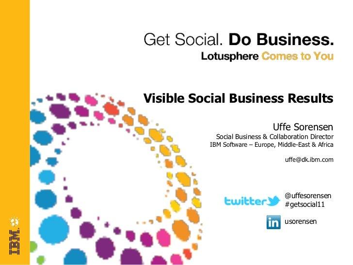 Visible Social Business Results                               Uffe Sorensen            Social Business & Collaboration Dir...