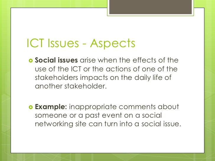negative impacts of ict towards social ills The positive and negative impacts of ict and social consequences the cost of using ict may cause a number of problems for organisations.