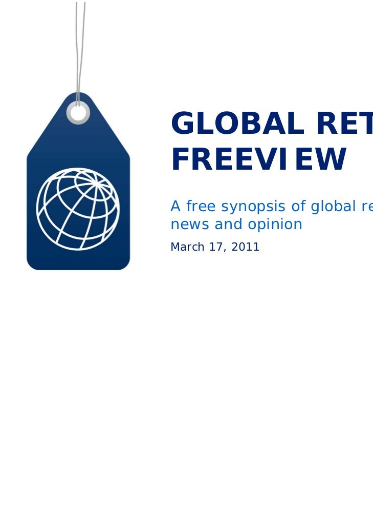 GLOBAL RETAILFREEVIEWA free synopsis of global retailnews and opinionMarch 17, 2011