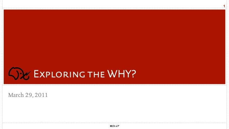 1        Exploring the WHY?March 29, 2011