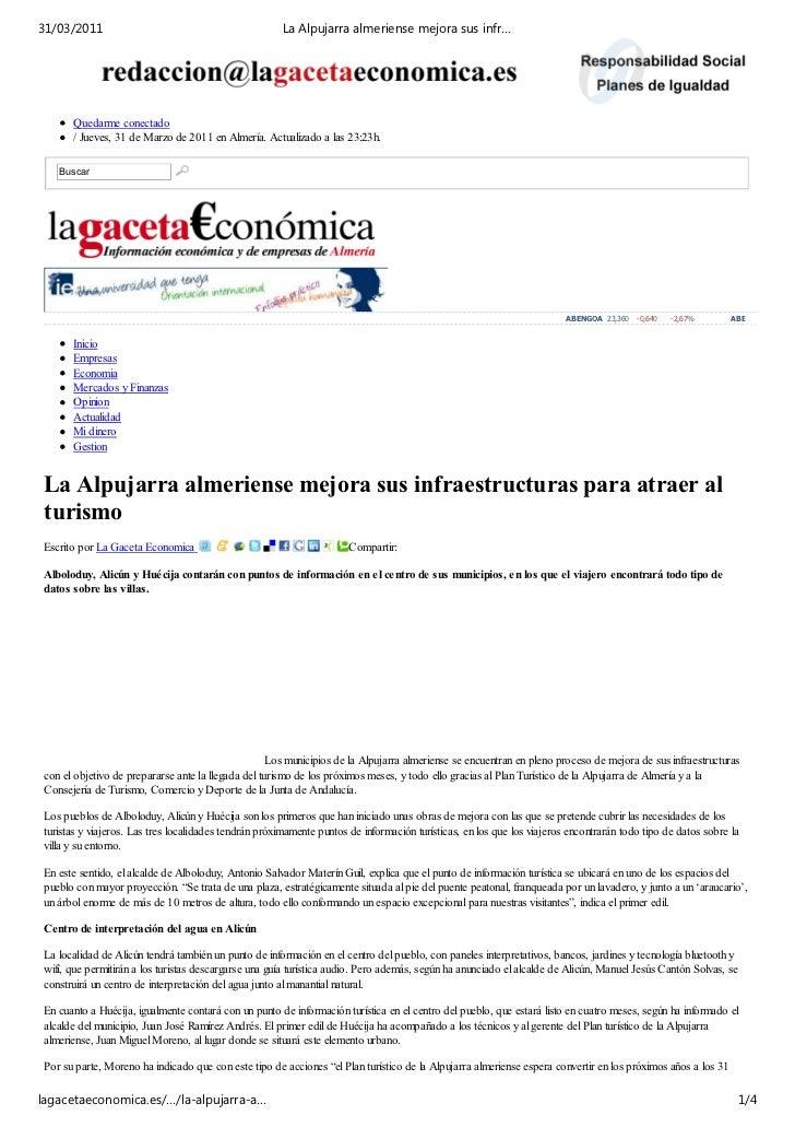 31/03/2011                                             La Alpujarra almeriense mejora sus infr…       Quedarme conectado  ...