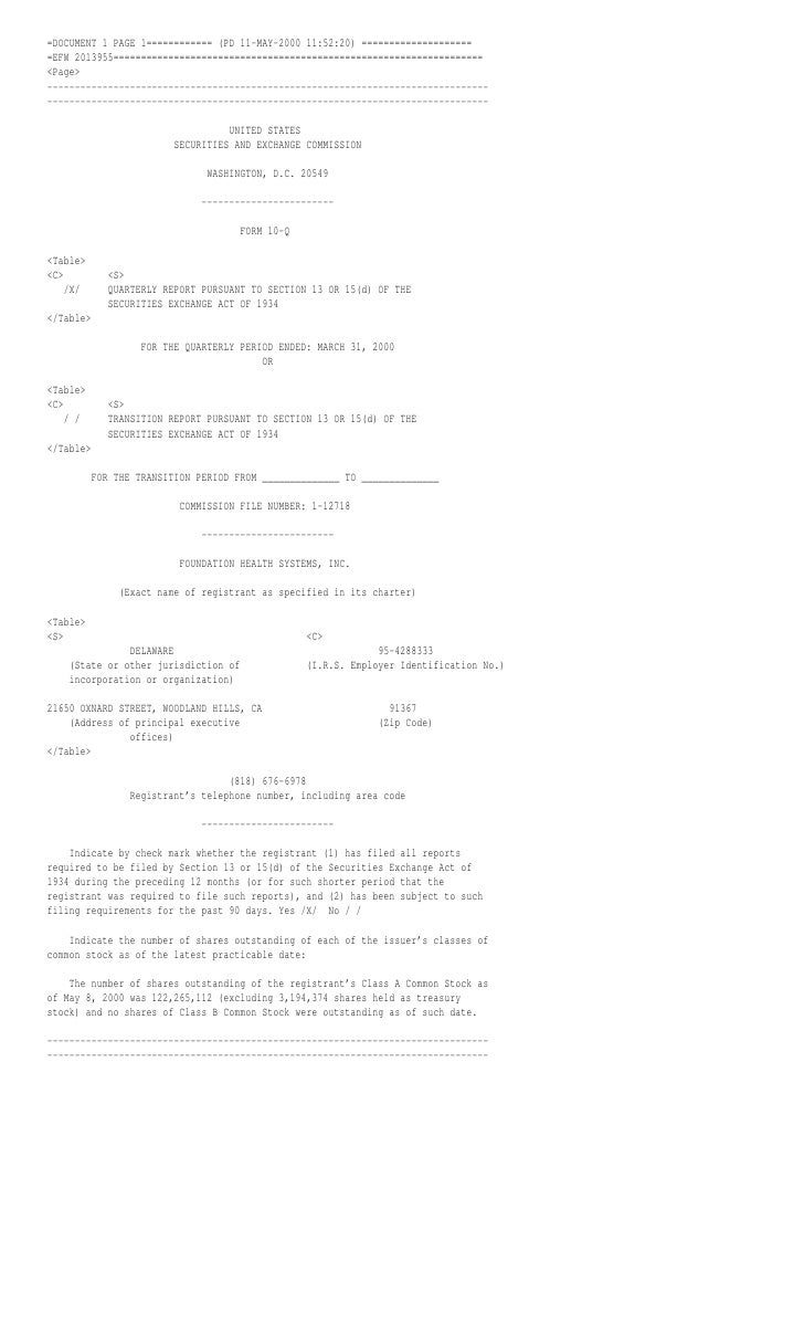 =DOCUMENT 1 PAGE 1============ (PD 11-MAY-2000 11:52:20) ==================== =EFW 2013955================================...