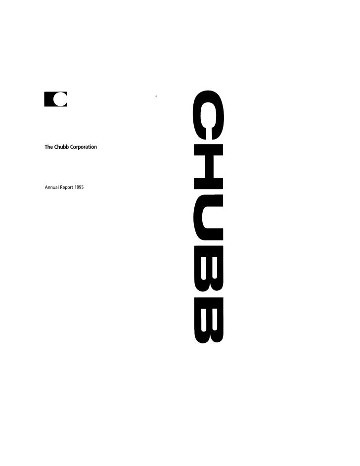 chubb Annual Report 1995