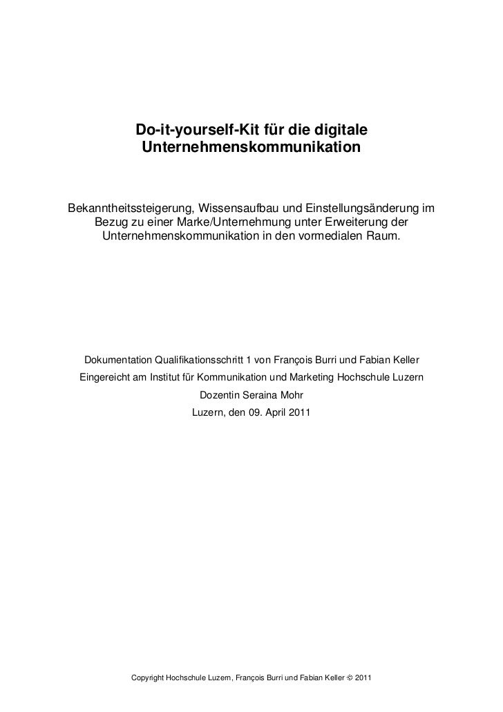 Dokumentation: Do-it-yourself-Kit für die digitale Unternehmenskommunikation