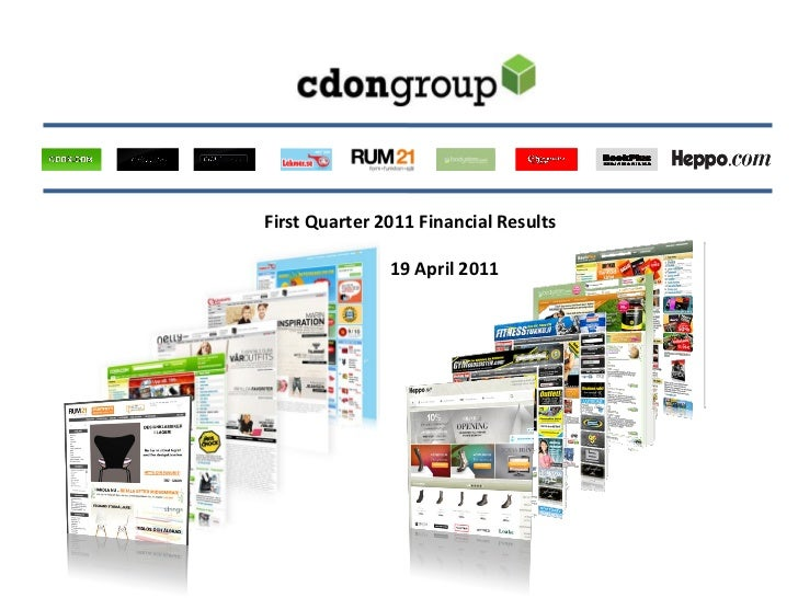 First Quarter 2011 Financial Results               19 April 2011