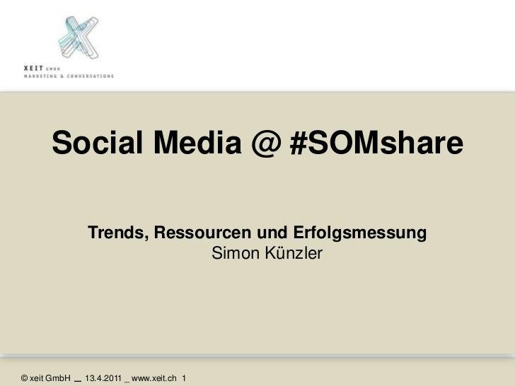 Social Media @ #SOMshare<br />Trends, Ressourcen und ErfolgsmessungSimon Künzler<br />