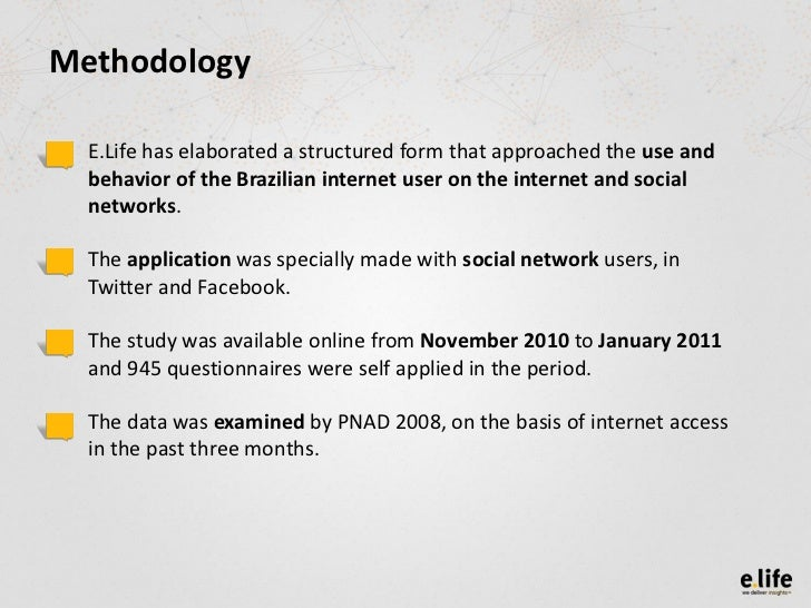 Usage and behavioral  habits of Brazilian internet users in social media Slide 3