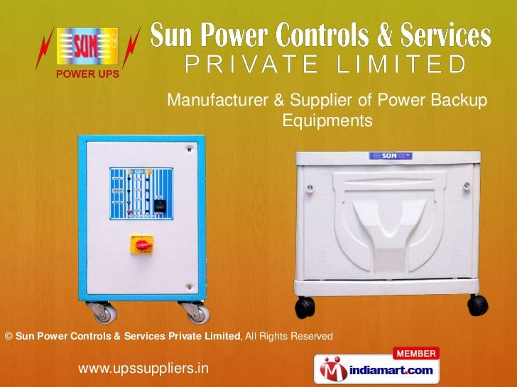 Manufacturer & Supplier of Power Backup<br />Equipments<br />