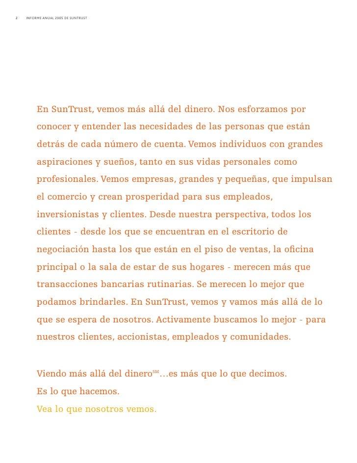sun trust banks 2005 Annual Report in Spanish Slide 3