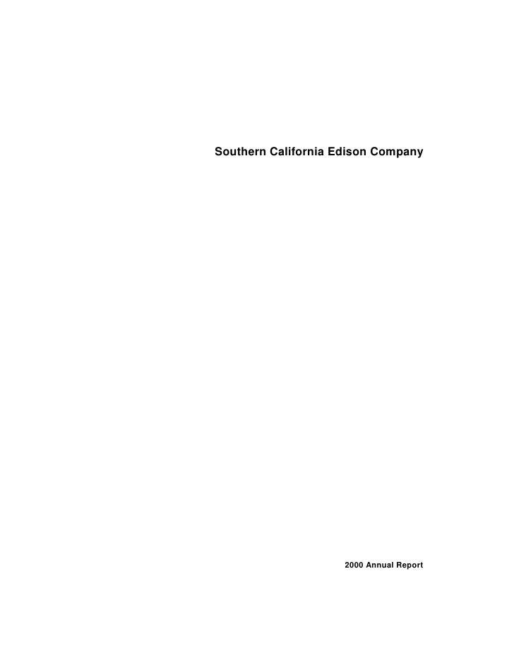 Southern California Edison Company                          2000 Annual Report